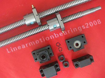2 Anti Backlash Ballscrew Rm2505-1461406mm 2 Bkbf15