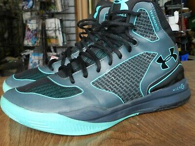#91 Under Armour Clutchfit Lightning Mens Basketball Shoes Size 8.5 Gray Teal