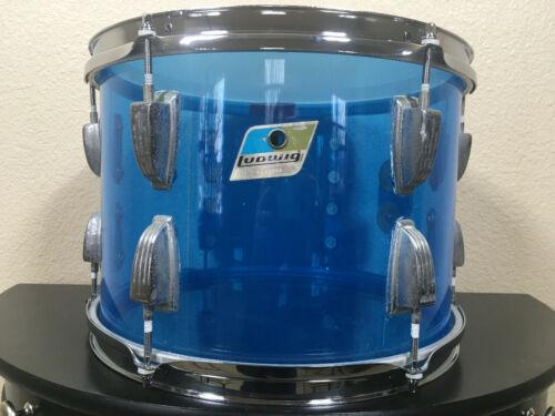 70's Ludwig Vistalite Blue Tom Drum 9X13