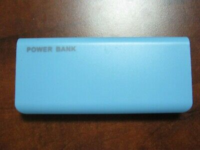 Portable USB External 20000mAh Battery Cell Phone Charger Power Bank Blue, used for sale  Shipping to Nigeria