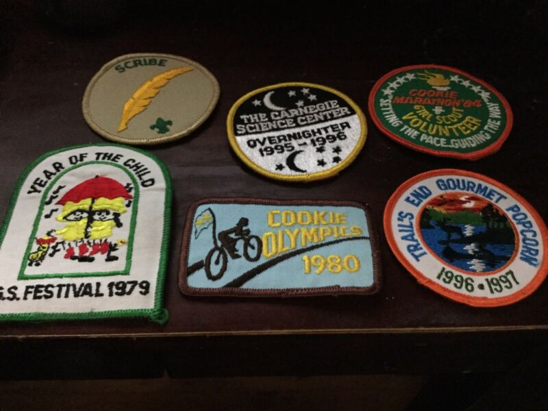 Vintage Girl Scout Patches 1979-1997