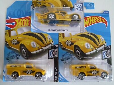 HOT WHEELS ROD SQUAD / '49 VOLKSWAGEN BEETLE PICK UP MOON EYES LOT OF 3: 2017/18