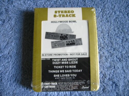 1977 BEATLES HOLLYWOOD BOWL IN STORE PROMO NOT FOR SALE 8TRACK TAPE SEALED $275
