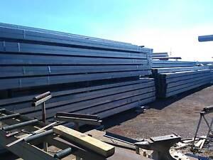 Steel 200x100x4, hot dip gal rhs