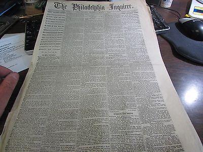 CIVIL WAR - THE PHILADELPHIA INQUIRER MARCH 3rd 1864 - ORIGINAL