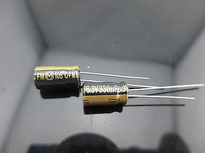 6pcs Japan Panasonic Fm 330uf 6.3v 330mfd Impedance Electrolytic Capacitors