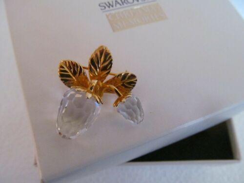 Swarovski Crystal Memories Accessories Double Strawberry Brooch Pin