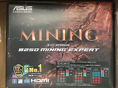 ASUS Intel B250 Mining Expert Motherboard 19 GPU Cryptocurrency LGA 1151 NEW