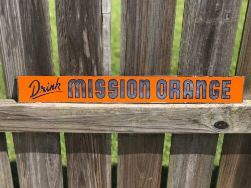 NOS Mission Orange Beverage Advertising Sign Soda Sign Drink Tin Sign