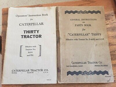 Two Cat Caterpillar Thirty 30 General Instructions Operators Instruction Book