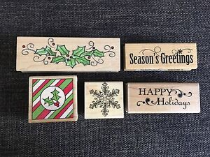 Wooden stamps Christmas
