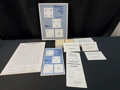 Unused Wisconsin Card Sorting Test Grant Berg Par