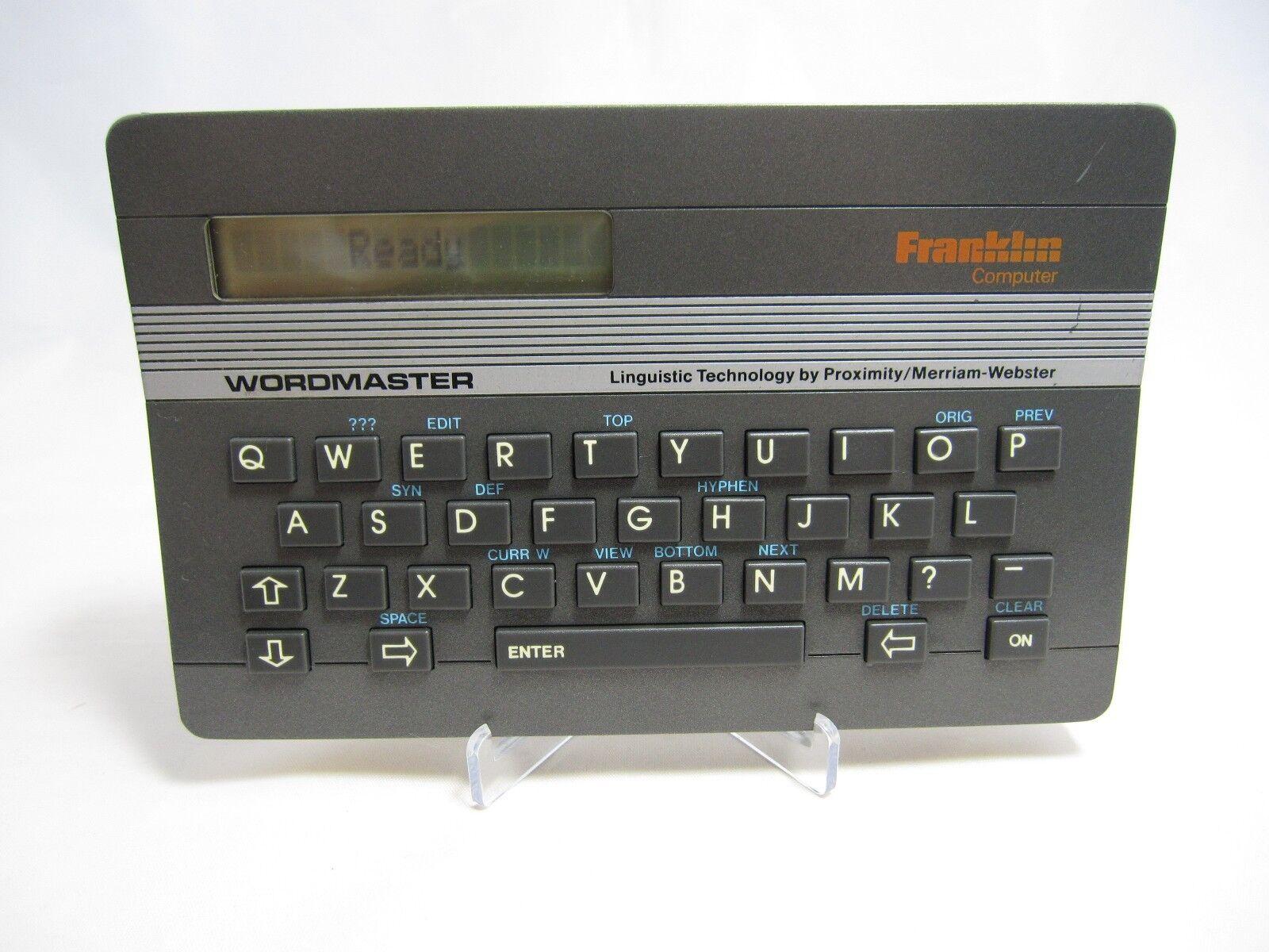 Franklin Deluxe Wordmaster Computer Merriam Webster WM-1000 Tested