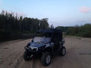 Canam commander and inclosed trailer combo