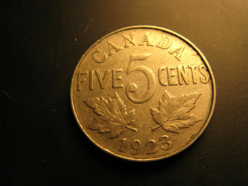 Canada 1923 5 Cent Coin.