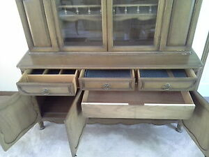 Dining Room Set--Unique, Solid Wood; Table, Buffet & Hutch Windsor Region Ontario image 5
