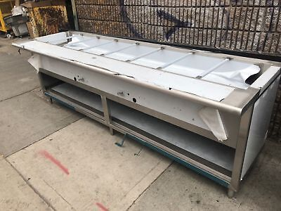 8ft Stainless Steel Steam Table 108 8 Pans Nat Gas 2 Burners Wsafety Valve Nsf
