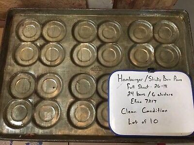 Commercial 4 Cluster Hamburger Pans Lot Of 10. Ecko 72176-58.