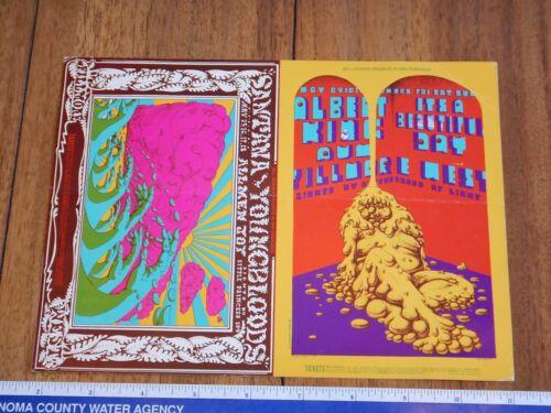 1969 SANTANA, YOUNGBLOODS, AUM FILLMORE DOUBLE POSTCARD BG 172-173, CONKLIN