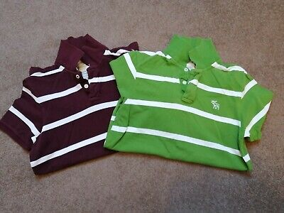 ABERCROMBIE AND FITCH, A&F POLO SHIRT, 'M'