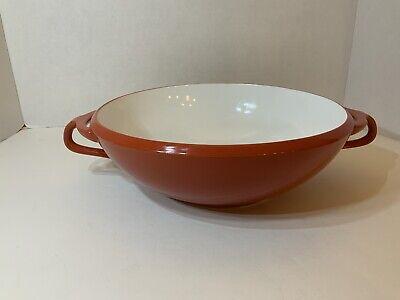 Vintage Dansk Kobenstyle JHQ Red Serving Bowl 11 1/2 Inches Midcentury Modern