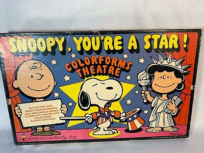 Vintage Peanuts Colorforms Theatre Snoopy You're a Star Toy Charlie Brown 1971