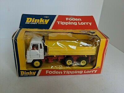 Dinky Toys 432 Foden Tipping Lorry with Box Mint Dump Truck 1976-79
