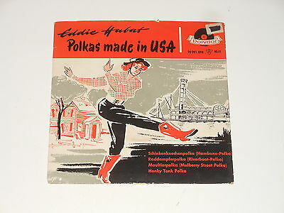 "Eddie Habat - 7"" EP - Polkas Made In USA - DE 1957 - Polydor 20 201 EPH"