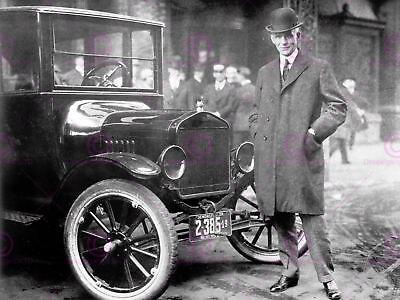 VINTAGE PHOTOGRAPHY PORTRAIT HENRY FORD CAR AUTOMOBILE MAGNATE USA PRINT CC2390