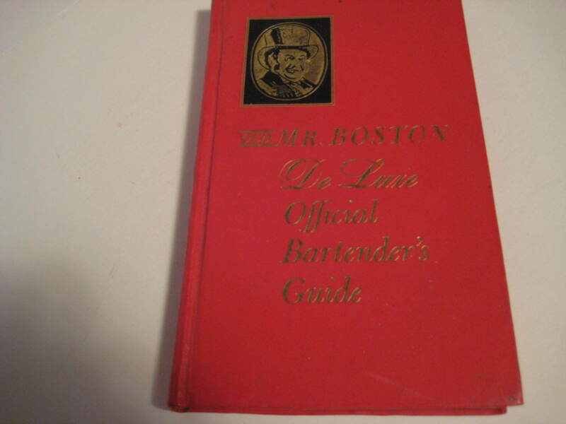 Vintage Original 1963 OLD MR BOSTON Deluxe Official Bartenders Guide Hard Cover