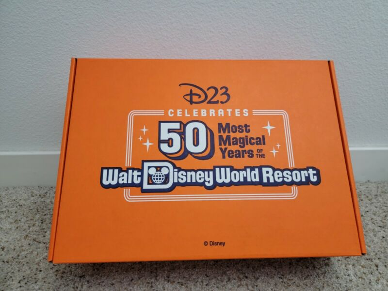 Disney D23 2021 Member Gift: Lunch Box, 5 Pins, Pennant, Record, Newsletter NEW