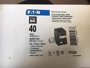 Eaton type BR 40 breaker with ground fault.