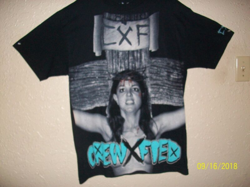 Britney Spears - Crew X Fied T-Shirt ~ Black - Large ~ Used but never worn