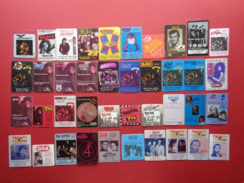 RADIO STATION,commemorative collection of 40 Original Backstage passes