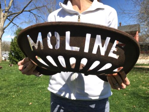 Antique Minneapolis Moline Cast Iron Tractor Seat Vtg Old Iron Implement