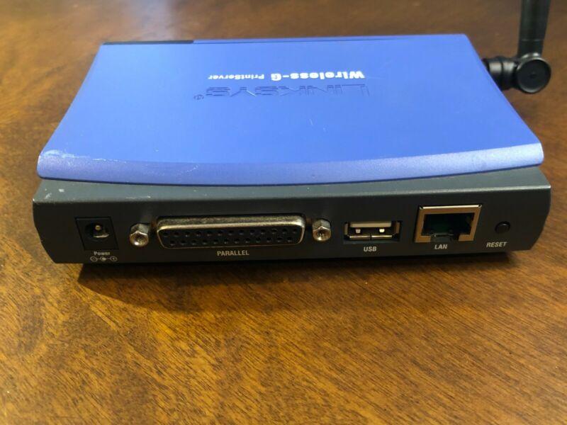 Genuine Linksys WPS54GU2 Wireless-G PrintServer for USB 2.0 /Used
