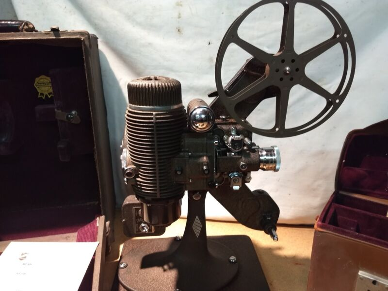 Antique Bell & Howell FILMO movie projector