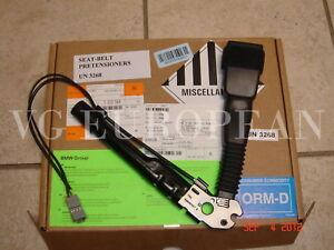 BMW E90 E92 E82 E88 E89 Z4 X1 Genuine Right Seat Belt Buckle with Tensioner NEW