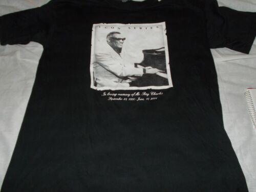"Icon Series  "" Ray Charles "" in memory of   Tee   [  2x ]      [ 22"