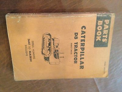 Cat Caterpillar D8 Tractor Bulldozer Parts Book Catalog Sn 36a Used