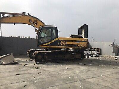 Jcb Js330 Excavator - Enclosed Cab Runs Good Needs New Rollers