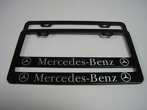 2 brand new mercedes benz black metal license plate for Mercedes benz vanity license plates