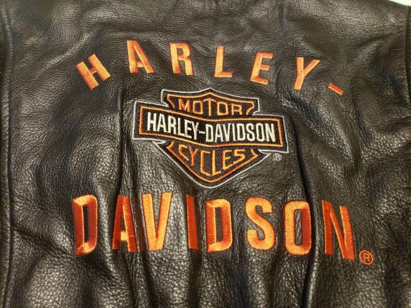 Womens Harley Davidson Classic Black Leather PATHWAY Jacket XS - NWOT