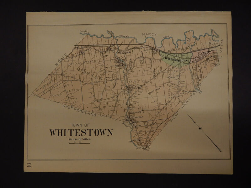 New York, Oneida County Map, 1907 Town of Whitestown R3#13