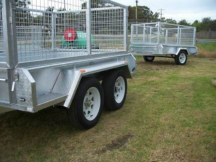 8 x 5 GAL TANDEM TRAILER AND CAGE