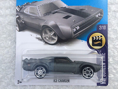 Hot Wheels ICE CHARGER (Silver) Fate of the Furious HW Screen Time #2/10 #266