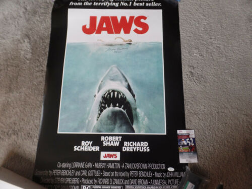JAWS 24x36 autographed Movie poster Chrissie added JSA Certified