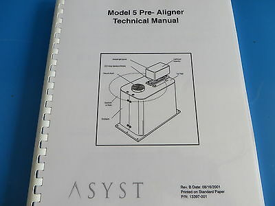 Asyst Model 5 Pre-aligner Technical Manual