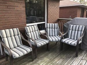 Chairs with cushions
