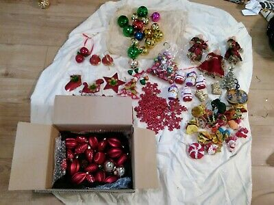 Christmas tree decorations baubles angels job lot